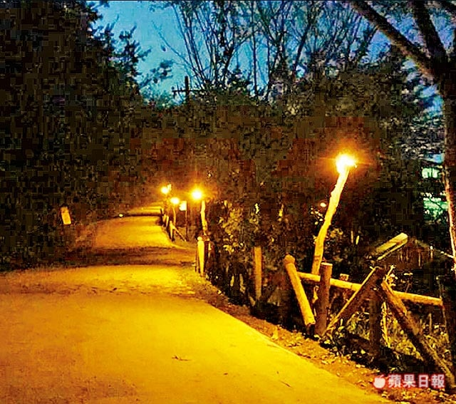 壹光科技无蓝害烛光OLED路灯点亮台湾司马库斯部落